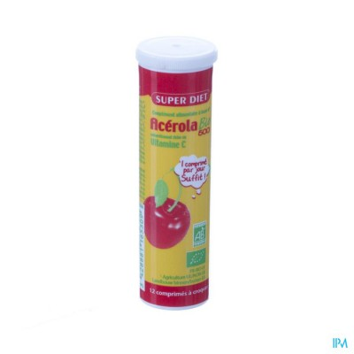 Super Diet Acerola 500 Bio Tube Comp 12