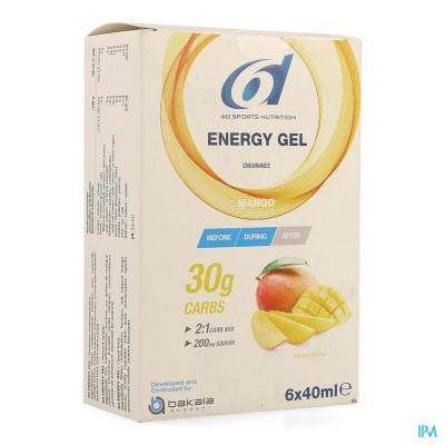 6d Sixd Energy Gel Mango 6x40ml