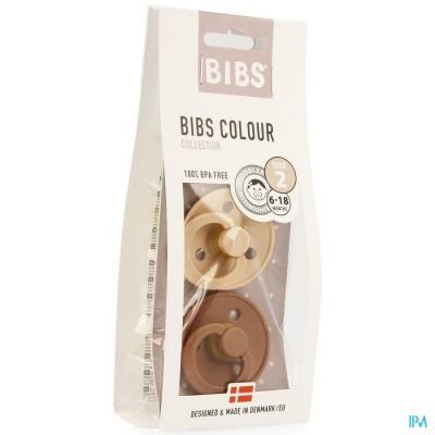 Bibs 2 Fopspeen Duo Woodchuck Blush