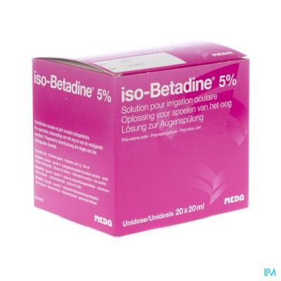 Iso Betadine Sol Oculaire-spoelen Oog 20udx20ml 5%