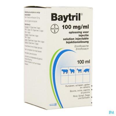 Baytril 10% Opl Inj Fl 100ml