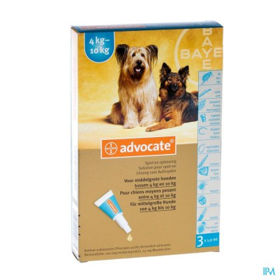 Advocate Spot On Middelgrote Hond >4-10kg Pipet 3