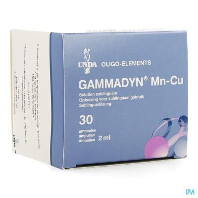 GAMMADYN AMP 30 X 2 ML MN-CU UNDA