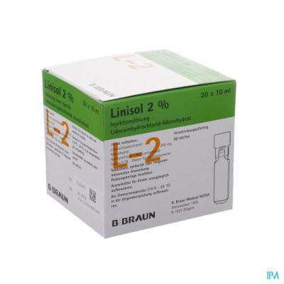 Braun Minip Linisol 2 % 20 Amp 10ml