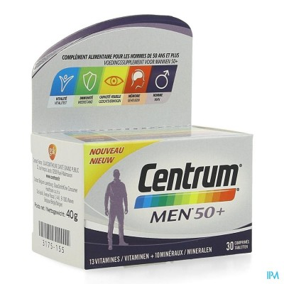 CENTRUM MEN 50+ COMP 30