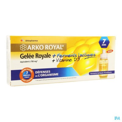 Arkoroyal Probiot. Volw Ruche Royale Dosis 7x7,5ml