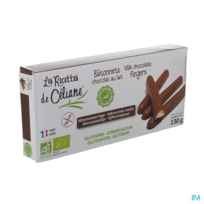 Celiane Melkchocolade Staafjes Bio 130g 4589