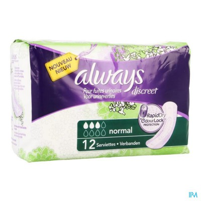 Always Discreet Incontinence Pad Normal 12