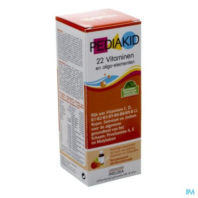 Pediakid 22 Vitalubes & Oligo Elements Fl 125ml