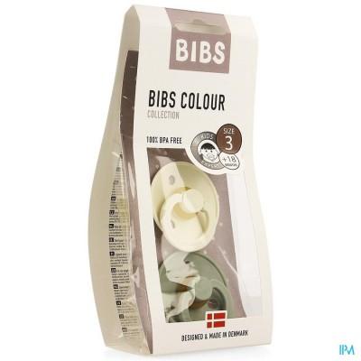 Bibs 3 Fopspeen Duo Sage Ivory
