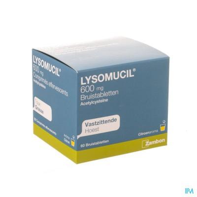 LYSOMUCIL 600 BRUISTABL. 60 X 600 MG