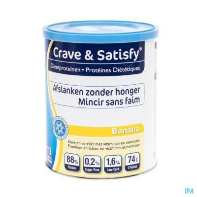Crave & Satisfy Dieetproteinen Banana Pot 200g