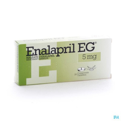 Enalapril Eg Comp. 28 X 5mg