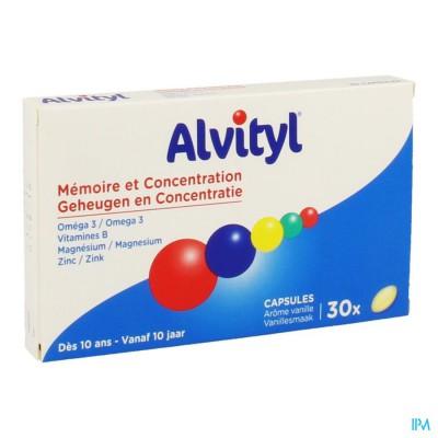 Alvityl Geheugen Concentratie Caps 30