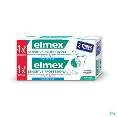 ELMEX SENSITIVE PROFESS. GENTLE WHITE.2X75ML -1,5?