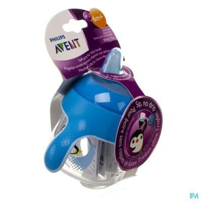 Avent Lekvrije Beker Pinguin Blauw 200ml
