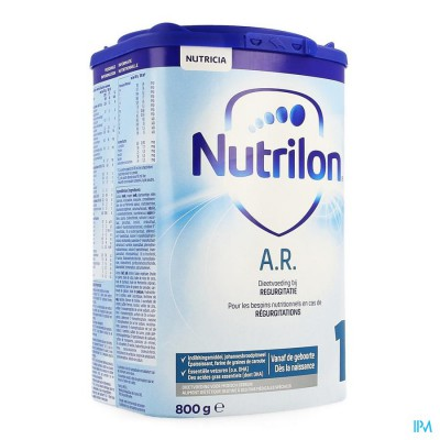 NUTRILON AR1 ZUIGELINGENMELK A/REGURGIT. PDR 800G