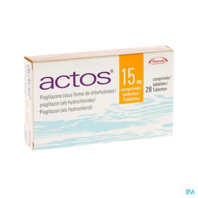Actos 15mg Comp 28 X 15mg