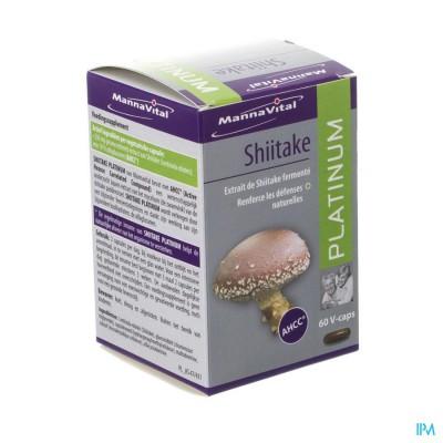 Mannavital Shiitake Platinum V-caps 60