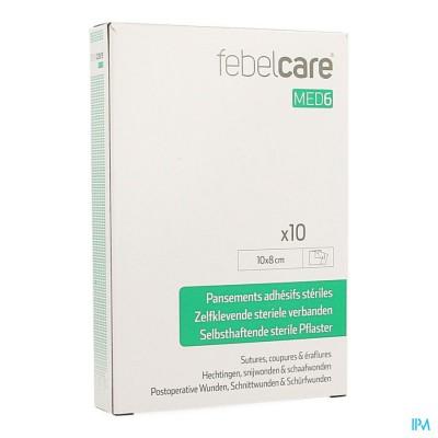 Febelcare Med6 Zelfkl.steriele Verband.10x8cm 10st