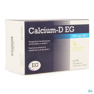 CALCIUM-D EG 500MG/400IE KAUWTABL 90