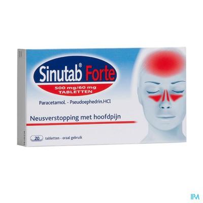 Sinutab Forte 500/60mg Comp 20