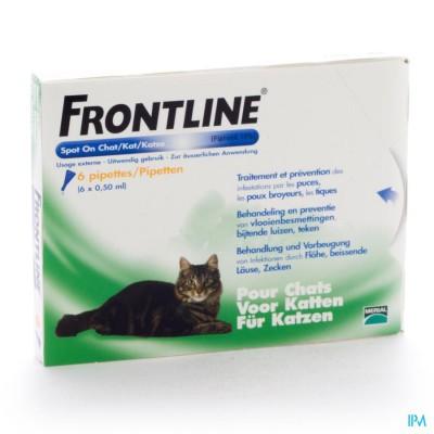 FRONTLINE SPOT ON KAT 10% PIPET 6X0,50ML
