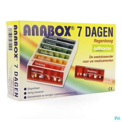 Boite Medicaments Anabox 7 X 5 Rainbow Fr