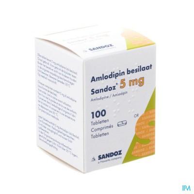 Amlodipine Besilaat Sandoz Pot C0mp 100x 5mg