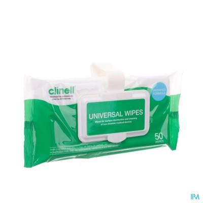 Clinell Universel Wipes Clip Pack 50