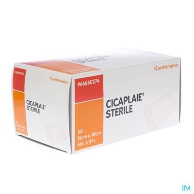 Cicaplaie Verb Steriel 15,0cmx10cm 50 66660274
