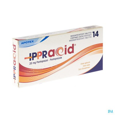 IPPRACID 20 MG MAAGSAPRESIST TABL 14
