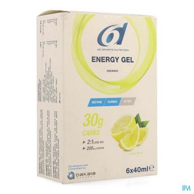 6D SIXD ENERGY GEL LEMON 6X40ML