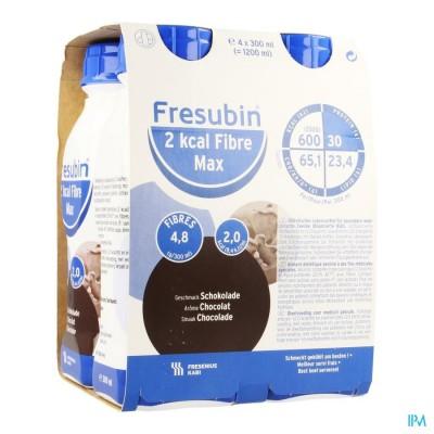 Fresubin 2 Kcal Fibre Max 300ml Chocolat/chocolade