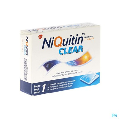 Niquitin Clear Patches 14 X 21mg