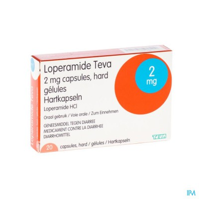 LOPERAMIDE TEVA CAPS 20 X 2 MG
