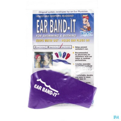 EAR BAND-IT ZWEMMEN NEOPREEN LARGE
