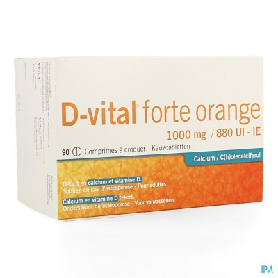 D Vital Forte Sinaas 1000mg/880ie Kauwtabl 90