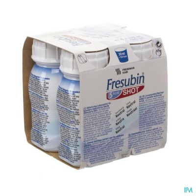 Fresubin 5kcal Shot Neutraal Easy Bottle 4x200ml