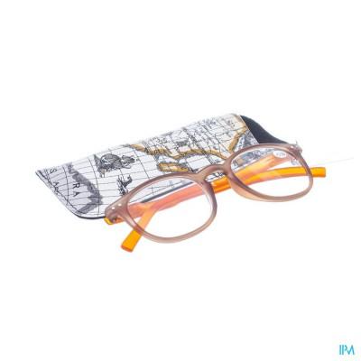 Pharmaglasses Leesbril Comp. +3.50 Brown/orange