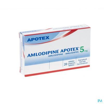 Amlodipine Apotex 5mg Tabl 28