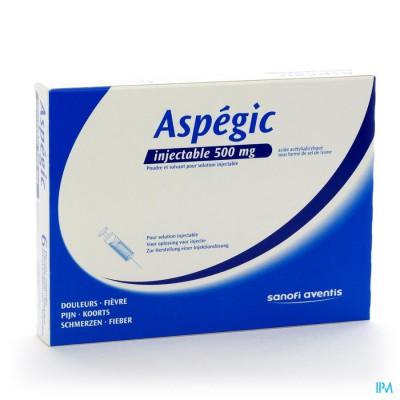 Aspegic 6 Fl Amp Inj + 6 Solv 5ml