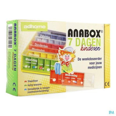 Kinderpillendoos Anabox 7x5 Rainbow Nl