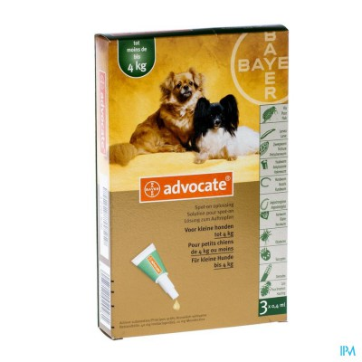 Advocate Spot On Opl Kleine Hond <4kg Pipet 3