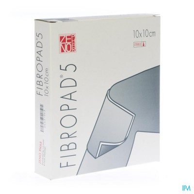 Fibropad 5 10,0x10,0cm 10 Kompres Steriel N/adh