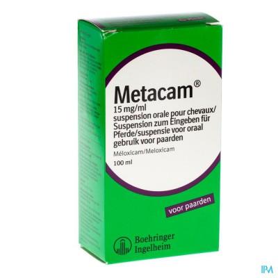 Metacam Susp Oral 15mg/1ml 100ml Paarden Chevaux