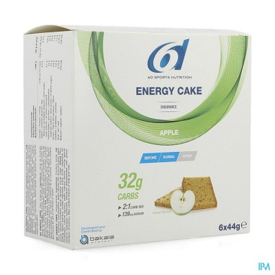 6d Sixd Energy Cake Apple 6x44g