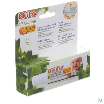 Nuby Citroganix Tand- en tandvleesgel + vingertandenborsteltje – 15g - 4m+
