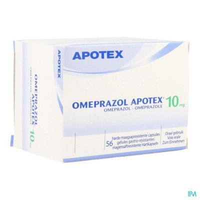 Omeprazol Apotex Caps 56 X 10mg