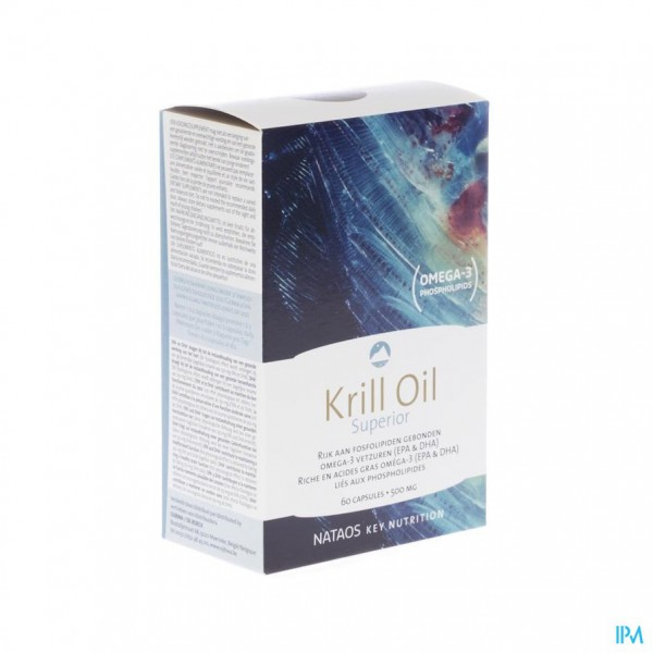 KRILL OIL SUPERIOR GELCAPS 60X500MG